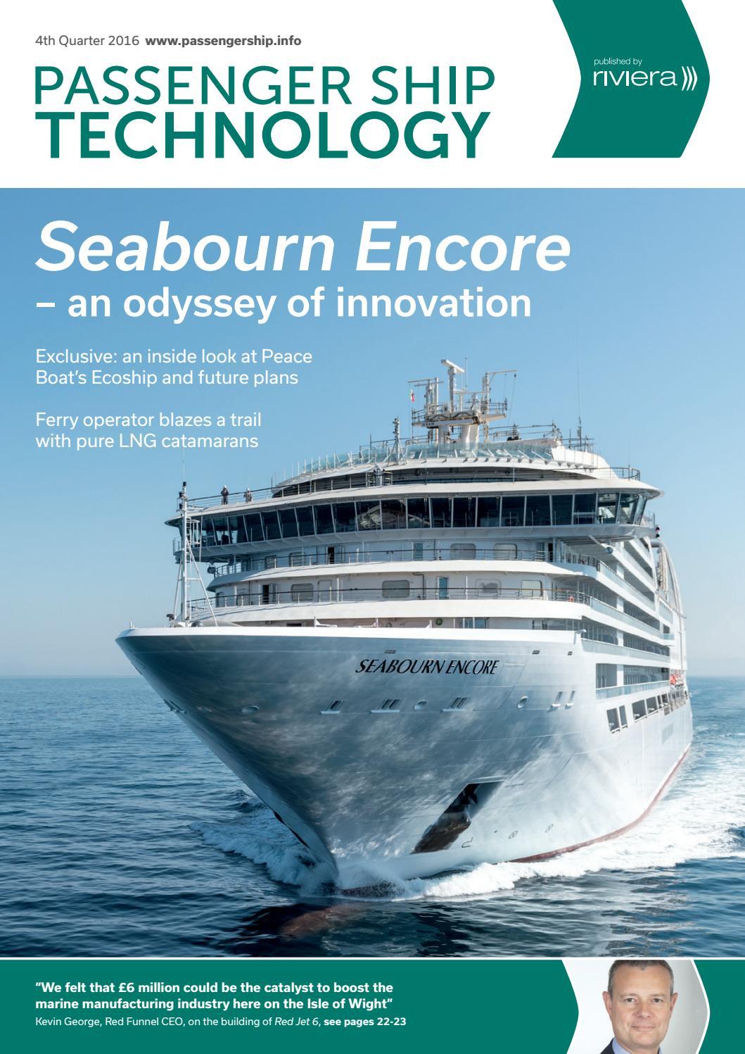 Passenger Ship Technology 4th Quarter 2016 by