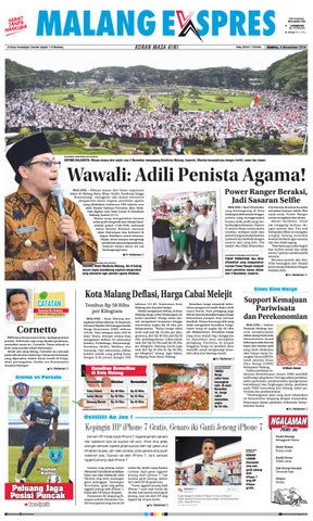 Malang ekspres ed sabtu, 5 november 2016