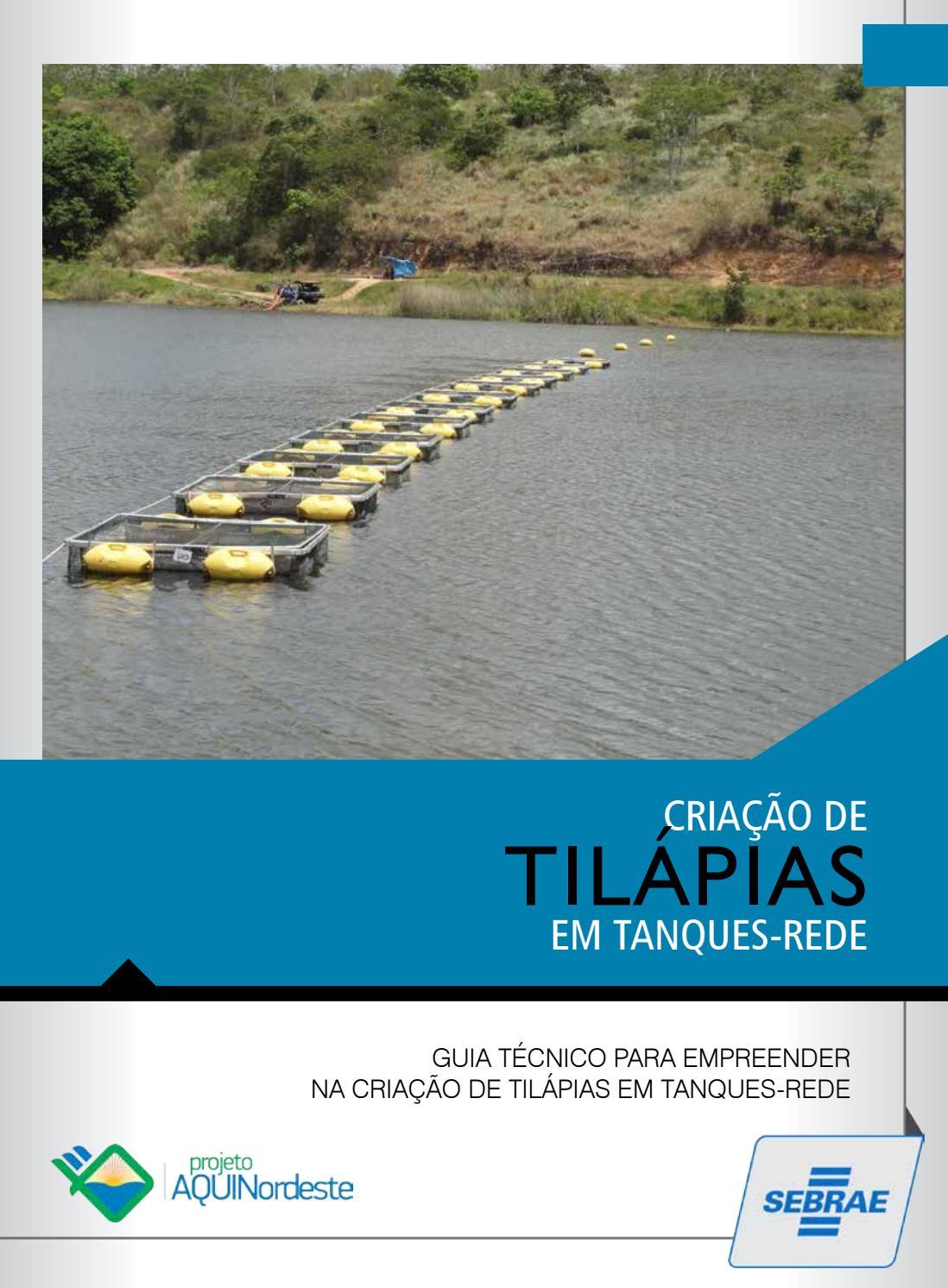 Cartilha tanques rede by virginia medeiros dida sebrae for Tanques para cria de tilapia