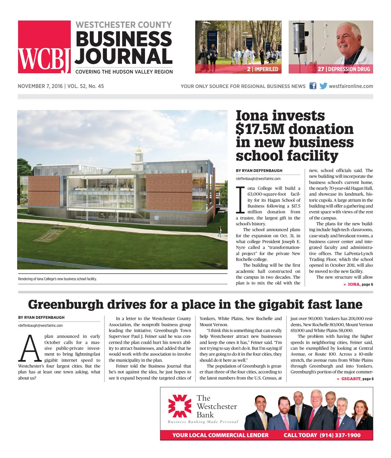 Westchester County Business Journal 110716 by Wag Magazine - issuu