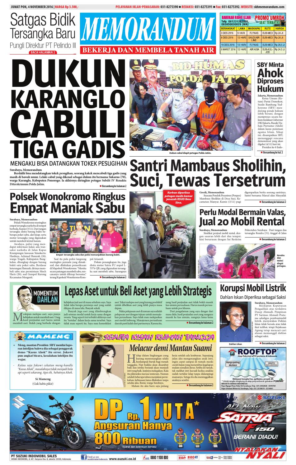memorandum edisi 4 november 2016 by memorandum issuu
