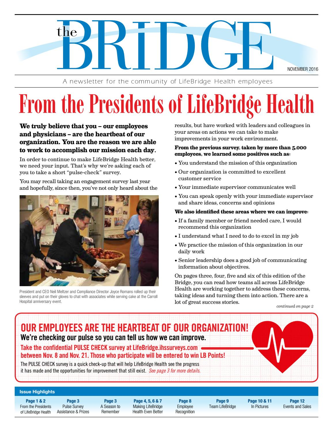 Bridge november 2016 by LifeBridge Health - issuu