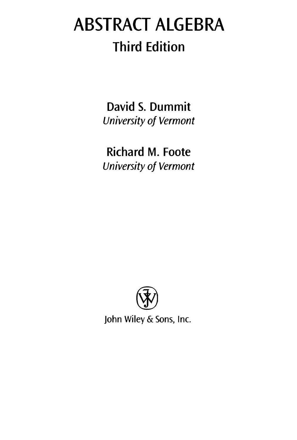 worksheet Ordering Integers abstract algebra third edition david s dummit by victor diaz issuu