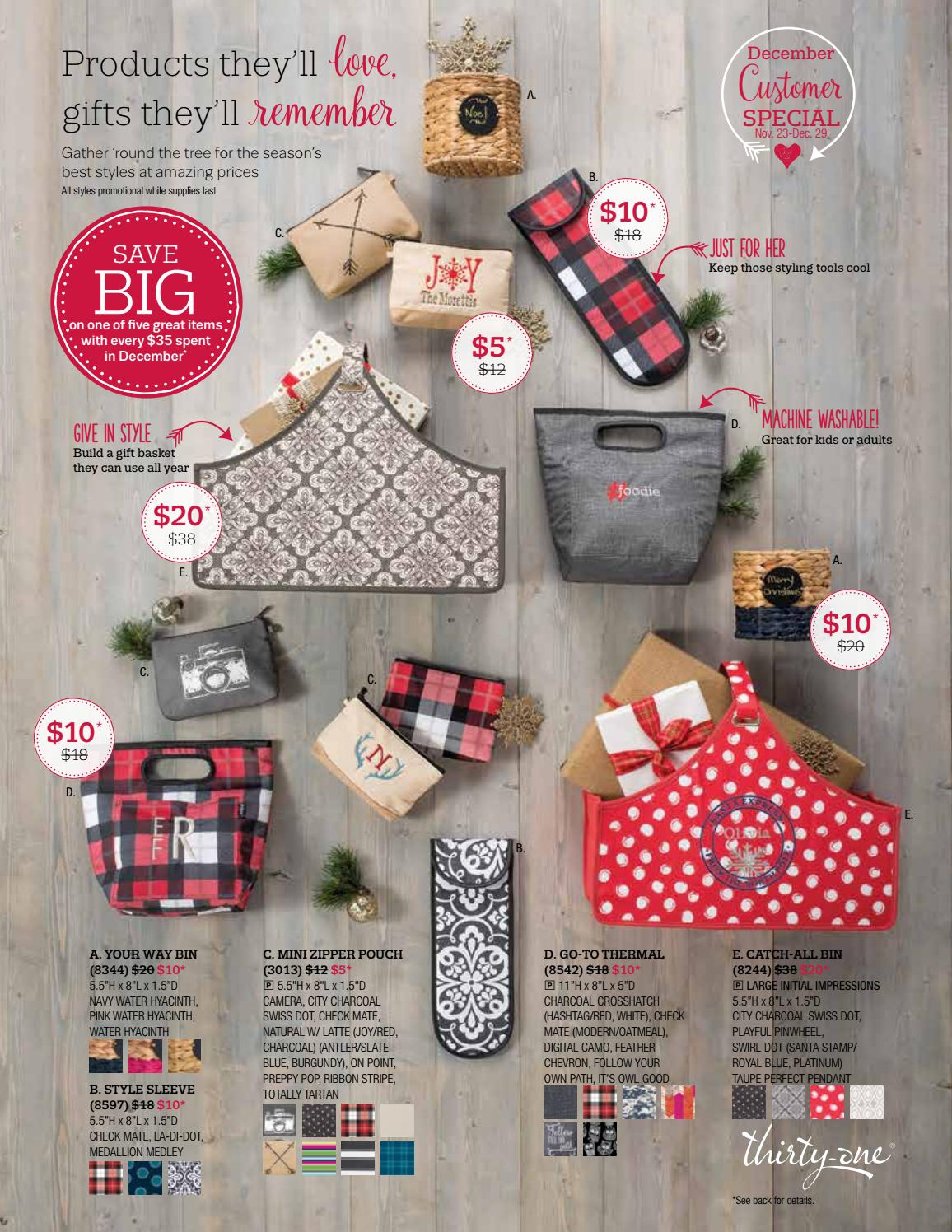 Thirty one november customer special 2014 - Thirty One December 2016 Specials By Carrie Saunder S Thirtyone Gifts Issuu
