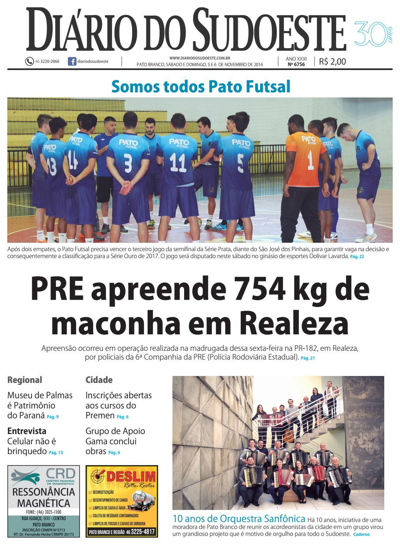 Diário do sudoeste 05 e 06 de novembro de 2016 ed 6756 by Diário do  Sudoeste - issuu 372beb9a32eaa