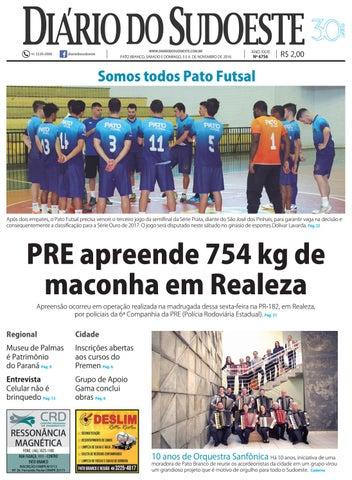 87c6ca7420bb1 Diário do sudoeste 05 e 06 de novembro de 2016 ed 6756 by Diário do ...