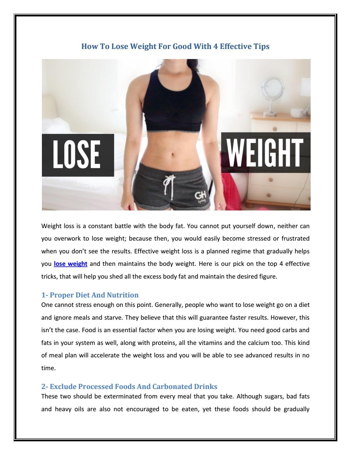 How To Lose Weight For Good With 4 Effective Tips By Diva Squad