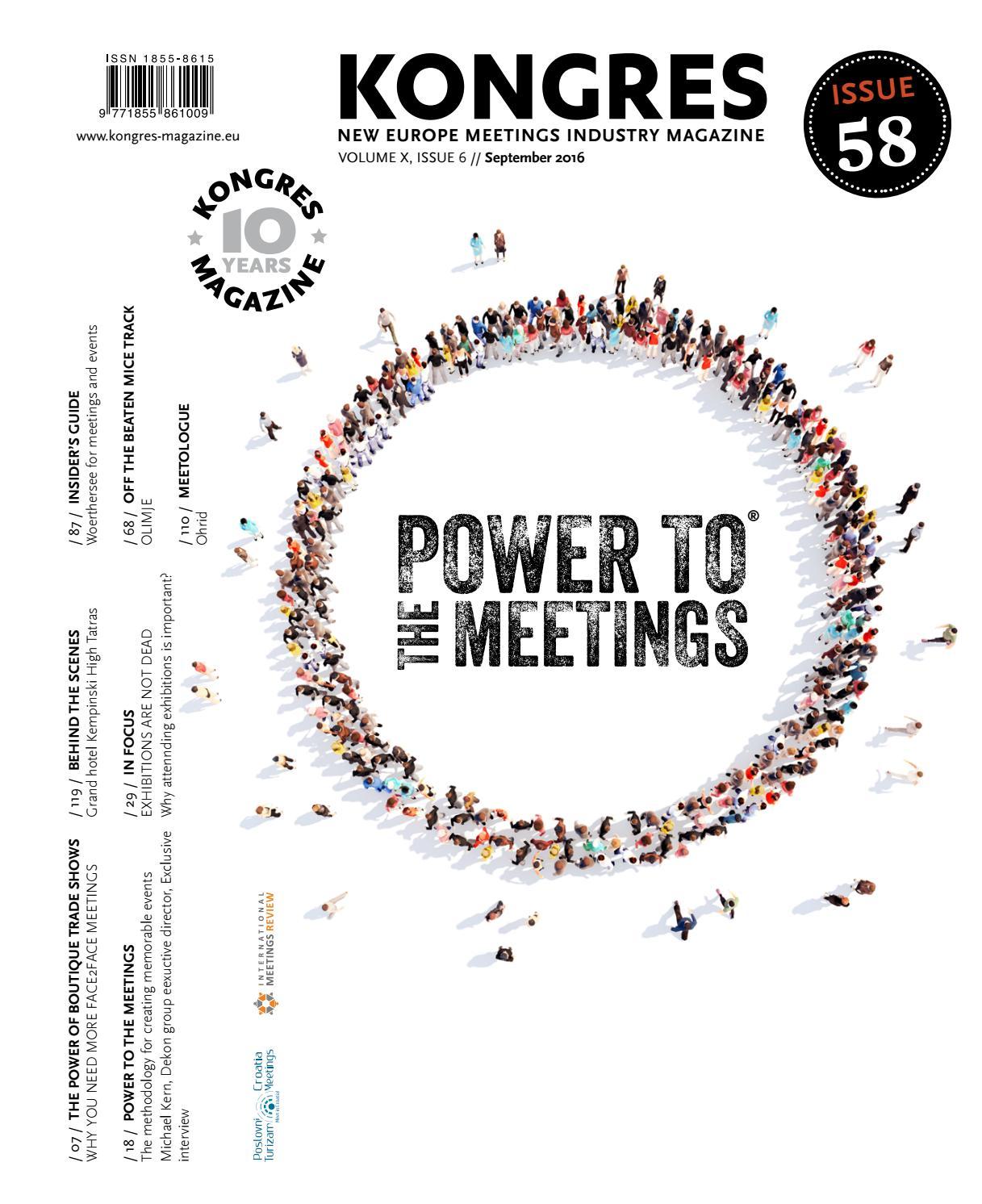 Kongres Magazine Autumn Issue 2016 By Kongres Magazine Issuu