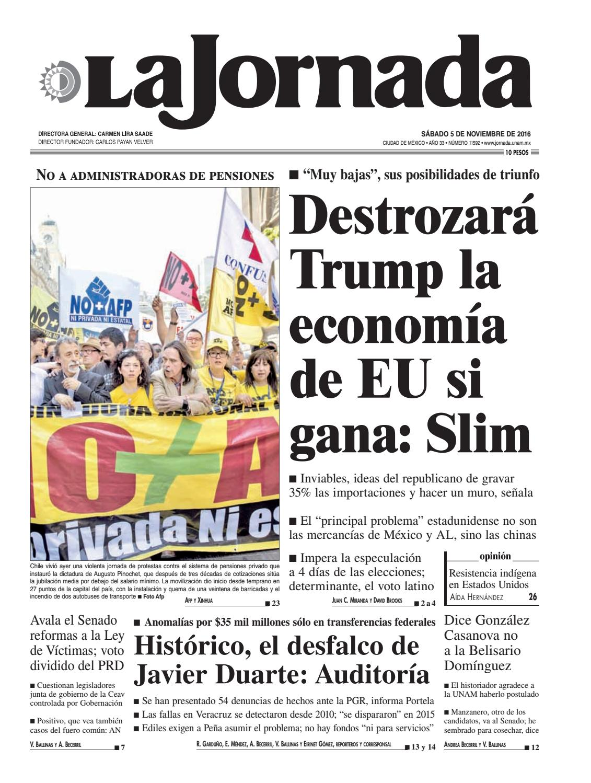 La Jornada, 11/05/2016 by La Jornada: DEMOS Desarrollo de Medios SA ...