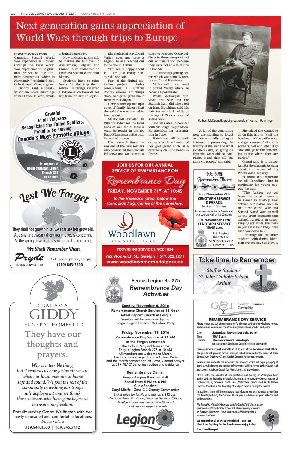 Lest We Forget -Remembrance Day Section by WHA Publications