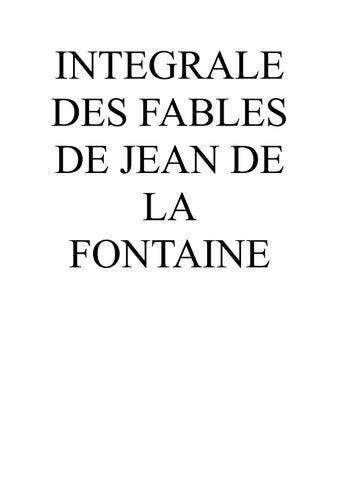 dae9d253e16b INTEGRALE DES FABLES DE JEAN DE LA FONTAINE by casserdesbriques.com ...