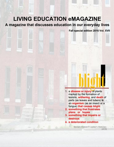 2016 Fall Special Edition Living Education eMagazine (Vol.17A)