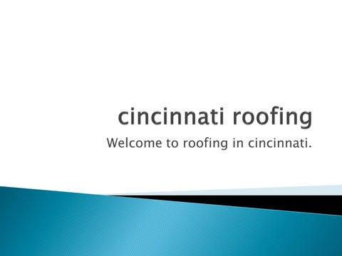 Welcome To Roofing In Cincinnati.
