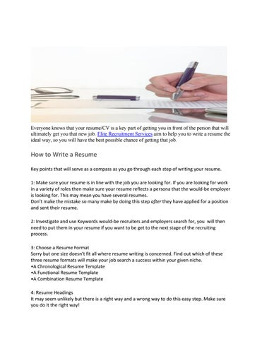 Tip For Writing A Resume By Aimee Richards