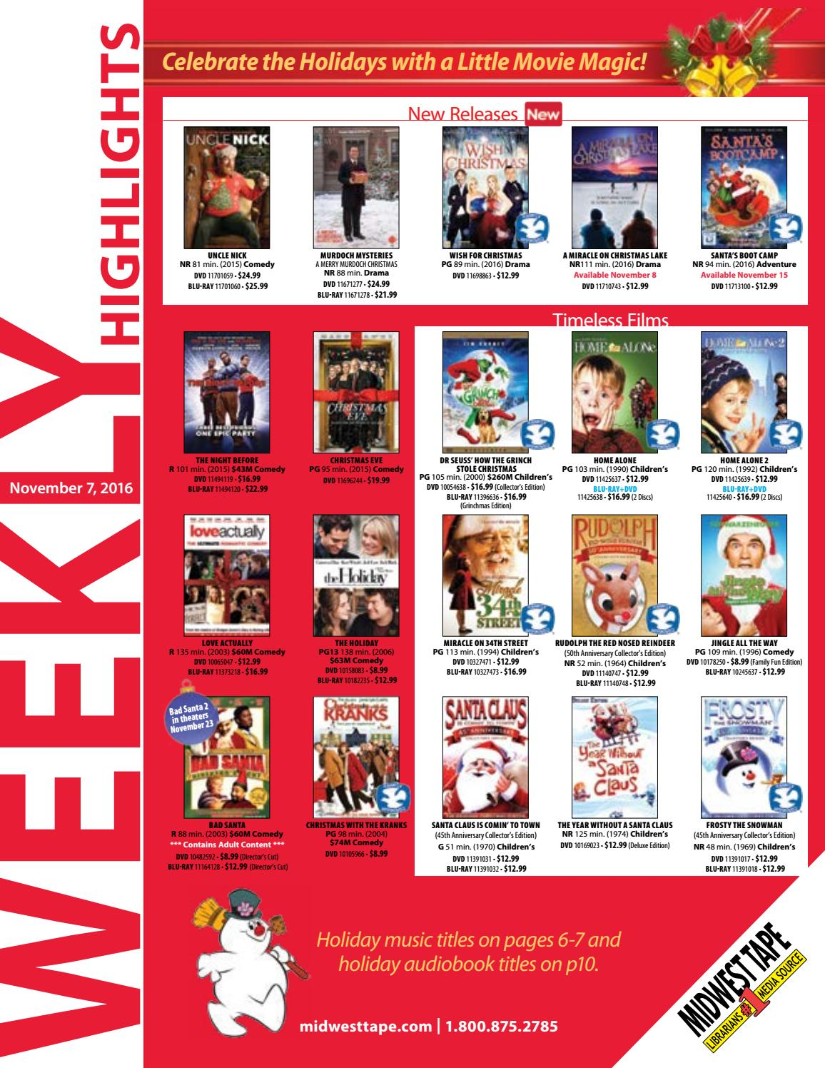 Christmas With The Kranks Dvd.Mwt Weekly Noveember 7 2016 By Midwest Tape Issuu