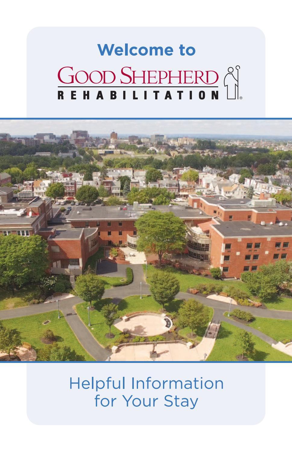 Patient Welcome Booklet for Good Shepherd Rehabilitation