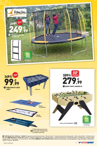 No l cadeaux sports by intersport france issuu - Table ping pong intersport ...