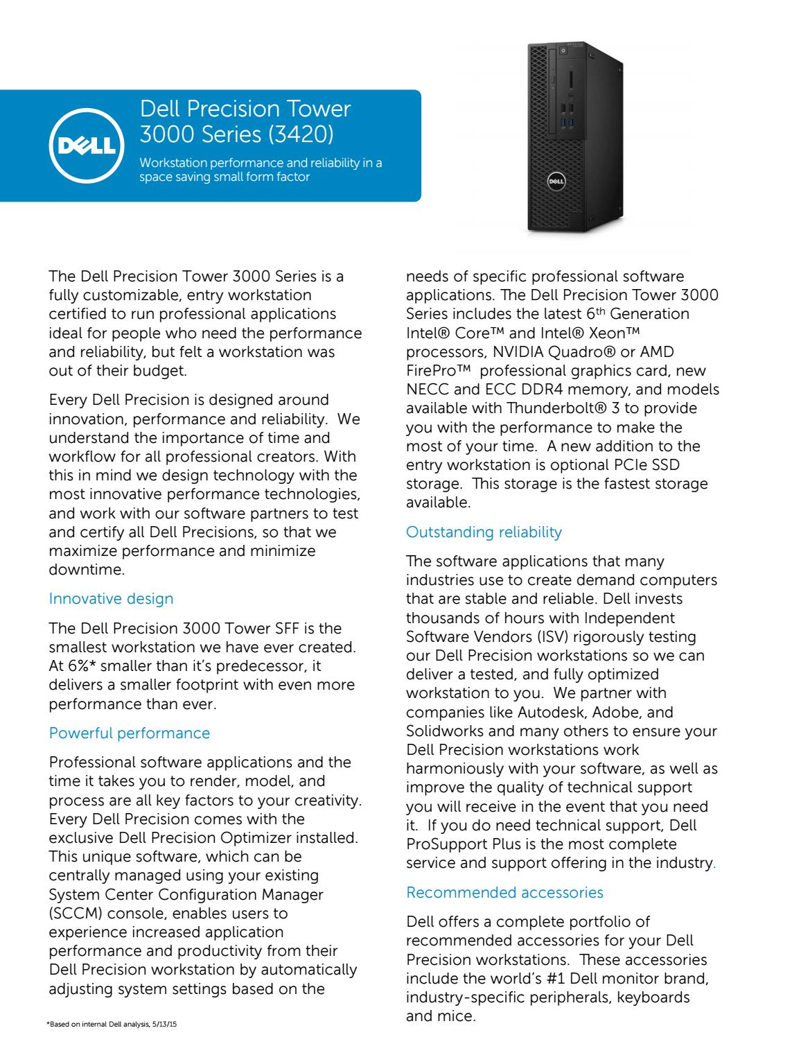 Dell precision tower 3420 Specifications by Sithisak