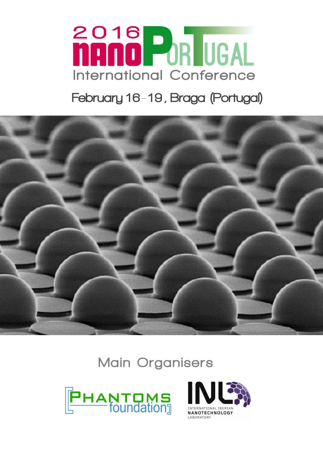 NanoPt2016 conference book by Phantoms Foundation - issuu