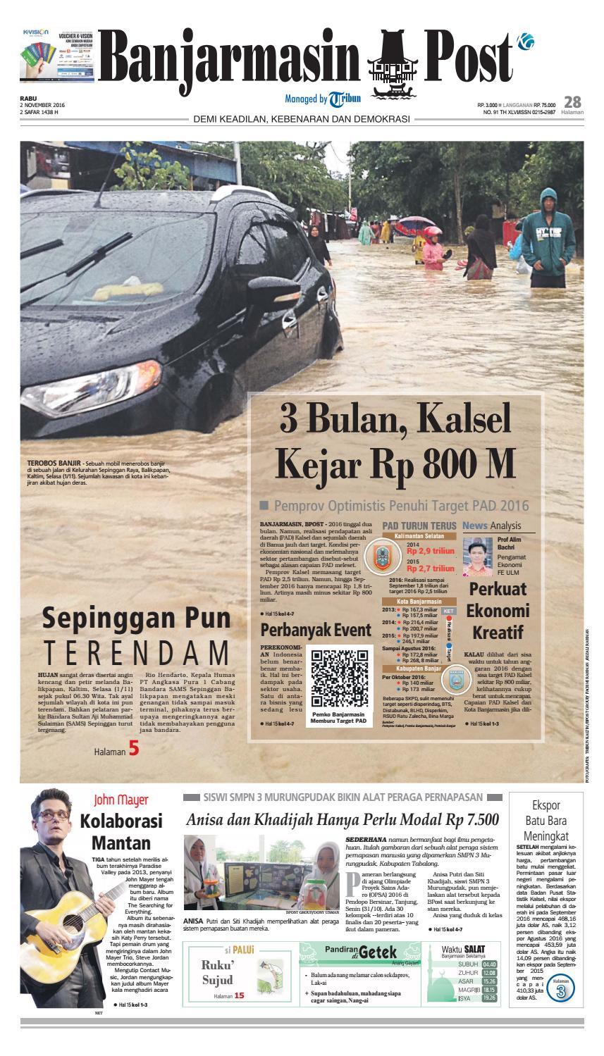 Bp20161102 By Banjarmasin Post Issuu Produk Ukm Bumn Tas Phiton Kembang Orchid