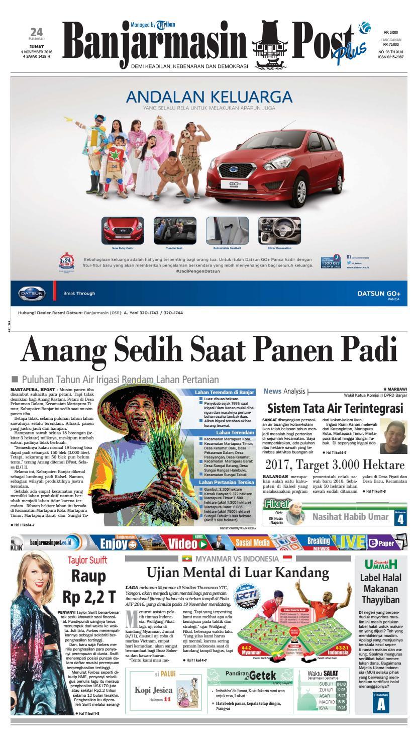Bp20161202 By Banjarmasin Post Issuu Produk Ukm Bumn Kue Sagu Ikan Haruan Bp20161104