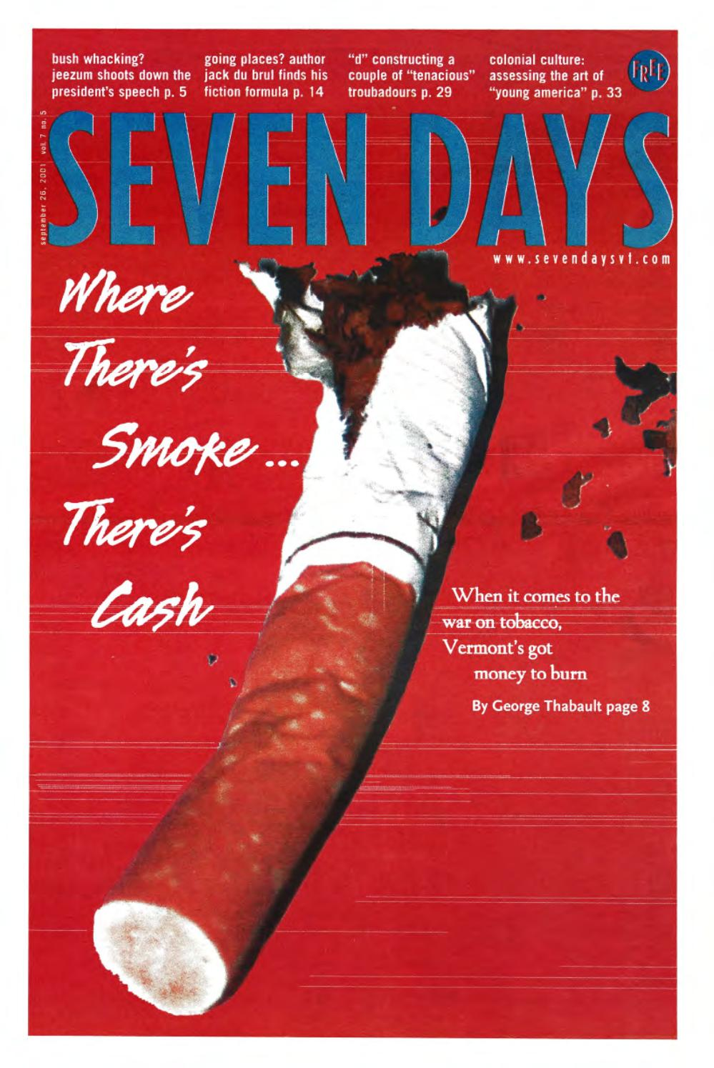 Seven Days September 26 2001 By Issuu 2humbucker 1 Vol 2 Tone Yke 5way Switch Wiring Guitarnutz