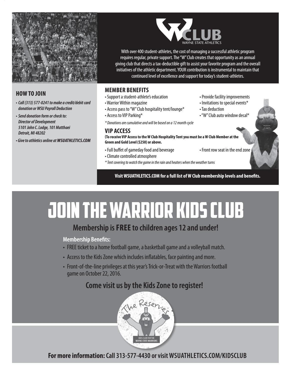 Audible -- Wayne State's Official Football Game Program (Nov