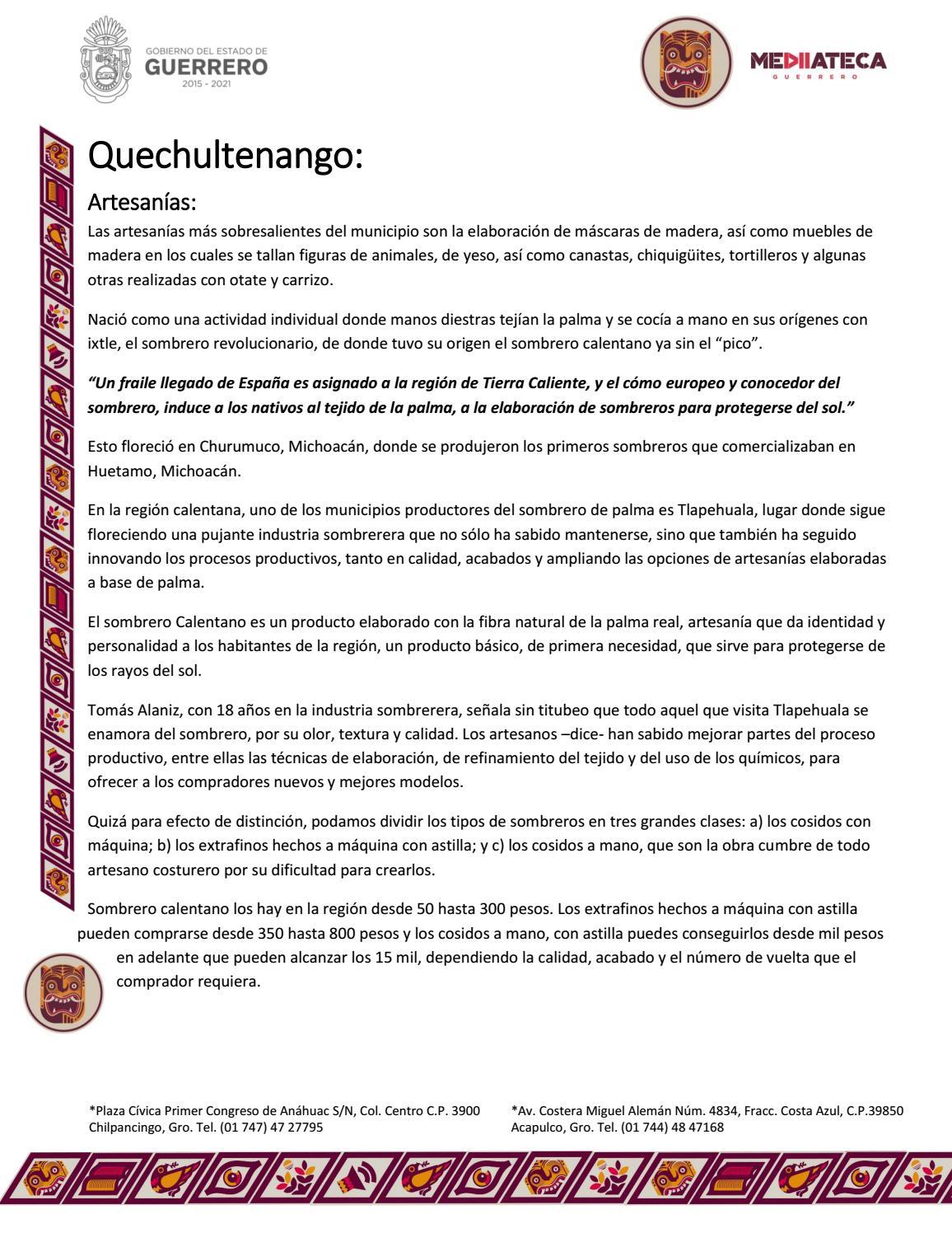 Artesanías de quechultenango by Mediateca Guerrero - issuu