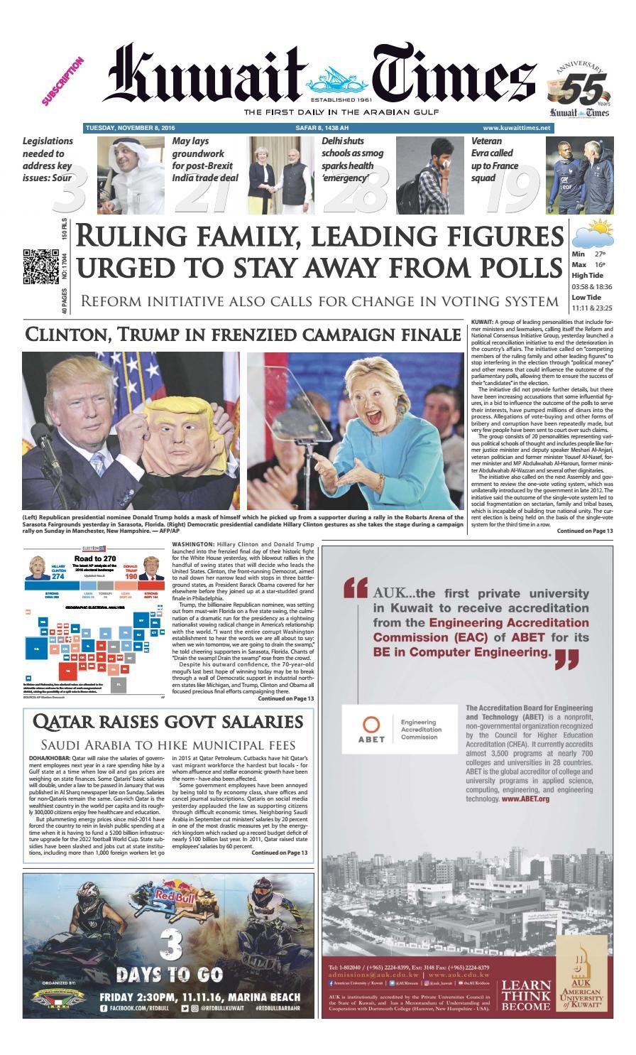 8th Nov By Kuwait Times Issuu
