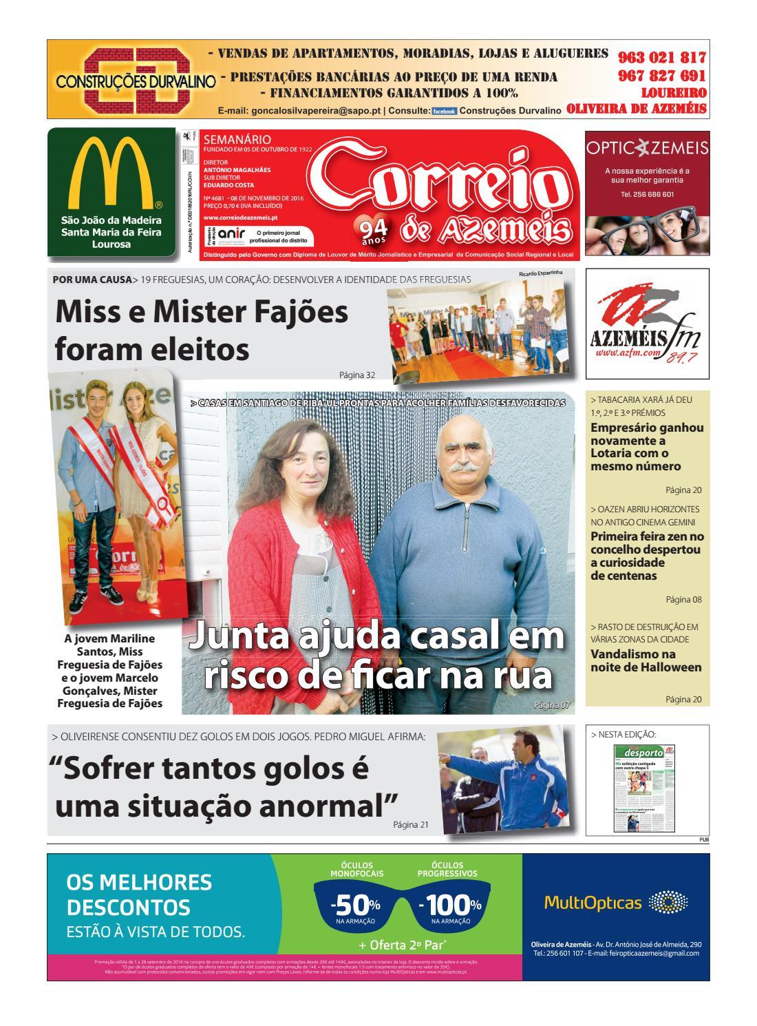 8 11 2016 by Correio de Azeméis - issuu d9f9748c41fb8