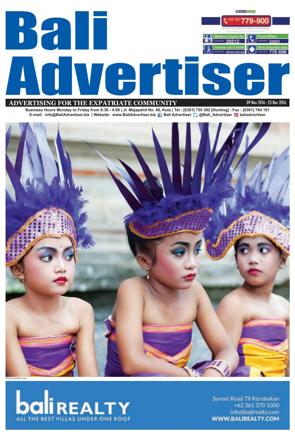 Ba 09 November 2016 By Bali Advertiser Issuu Kebaya Lestari Putih 1185r