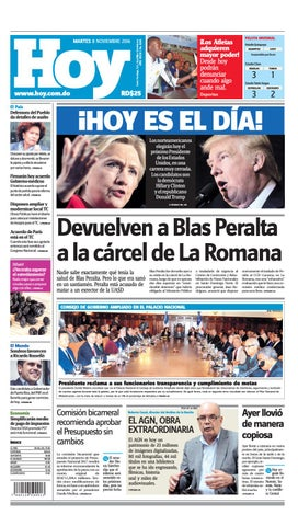 Periodico 8 noviembre 2016 page 01 jpg by Periodico Hoy - issuu c9b23af1d86