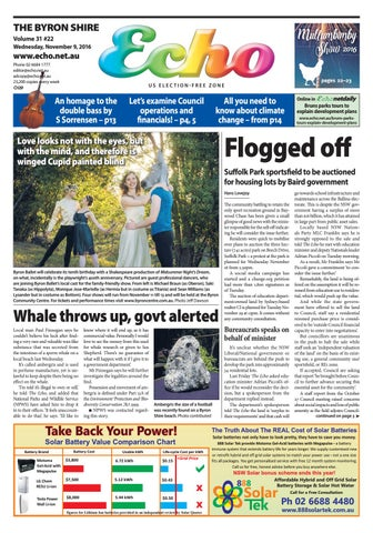 Byron Shire Echo Issue 09 11 2016 By Echo