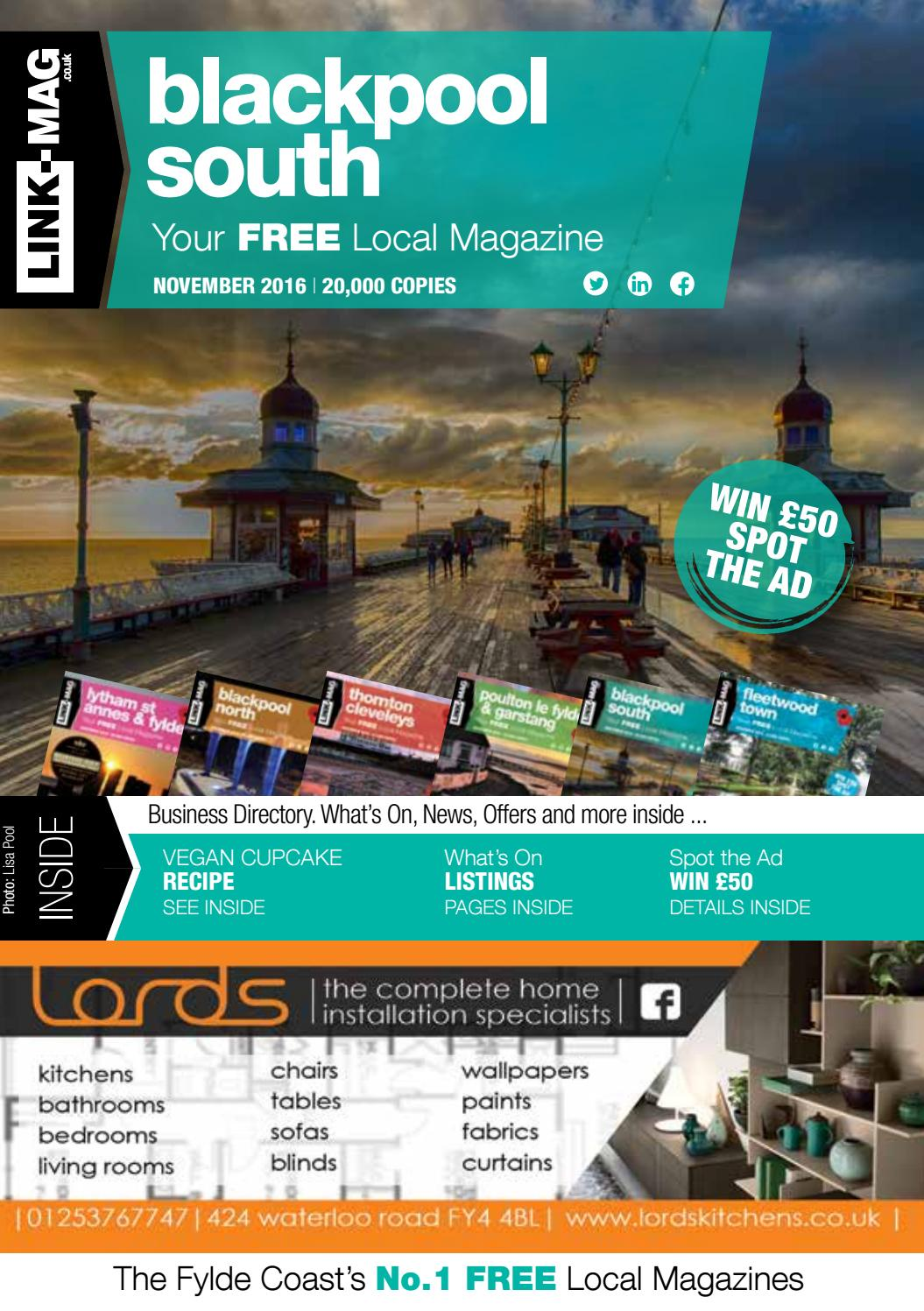 Blackpool South November Magazine 2016 By Link Mag Issuu