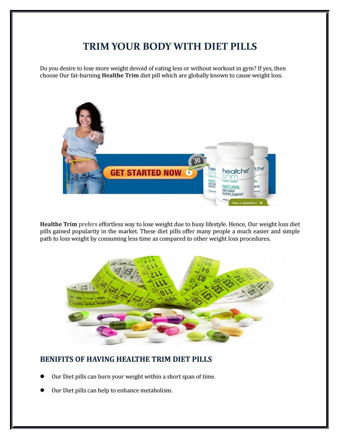 will diet pills cause weight loss