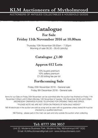 Catalogue 11 november 2016 2 by John Paul Monks - issuu