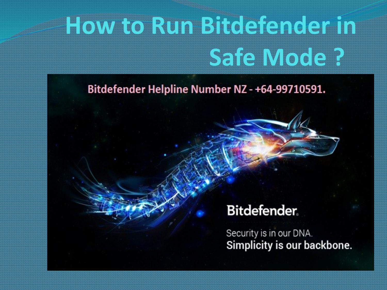 bitdefender wont run in safe mode