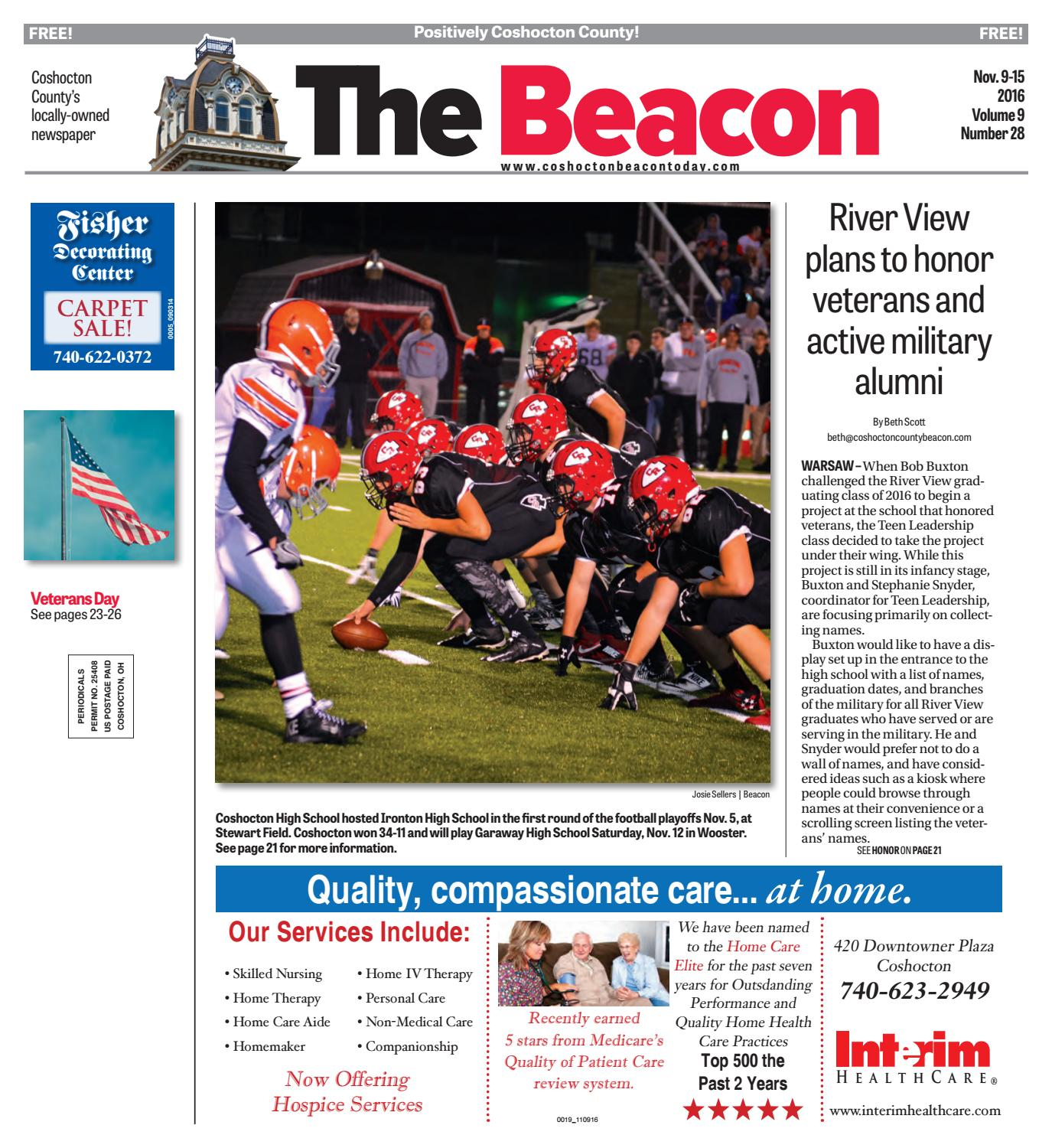 November 9 2016 Coshocton County Beacon By The