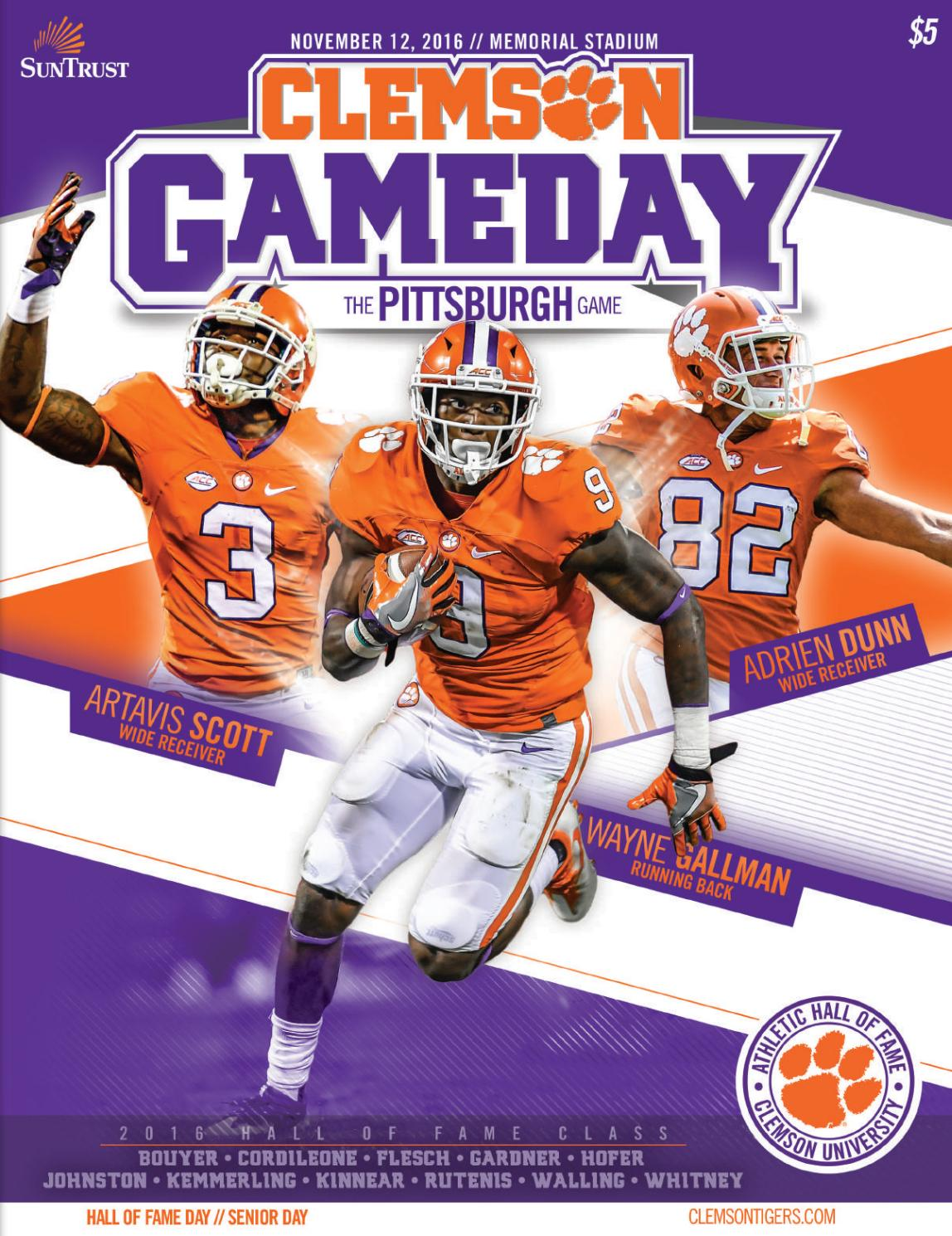 611d8fa5d00 Clemson Football    2016 Pittsburgh Gameday Program by Clemson Tigers -  issuu