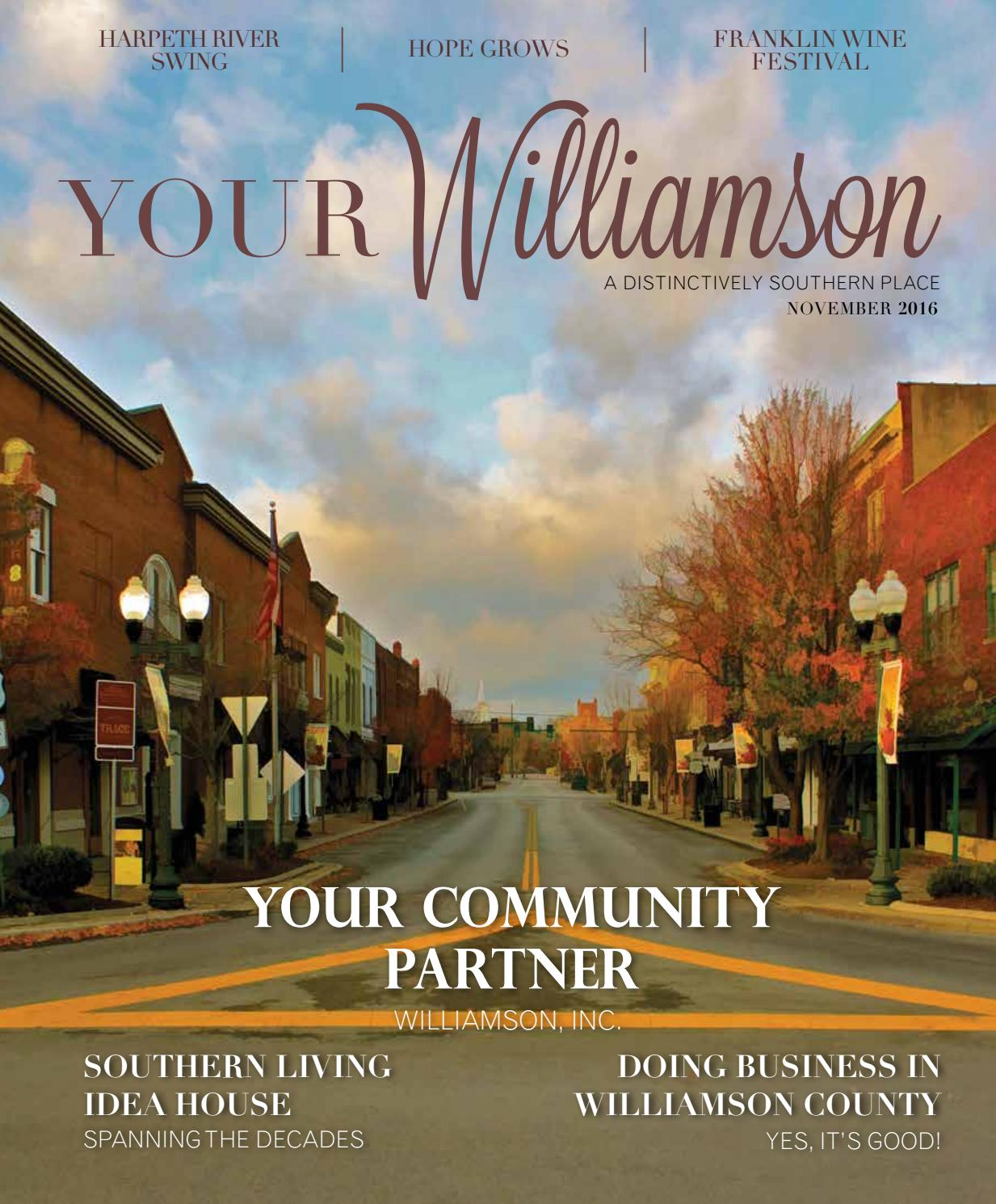 Your Williamson November 2016 by Robertson Media Group