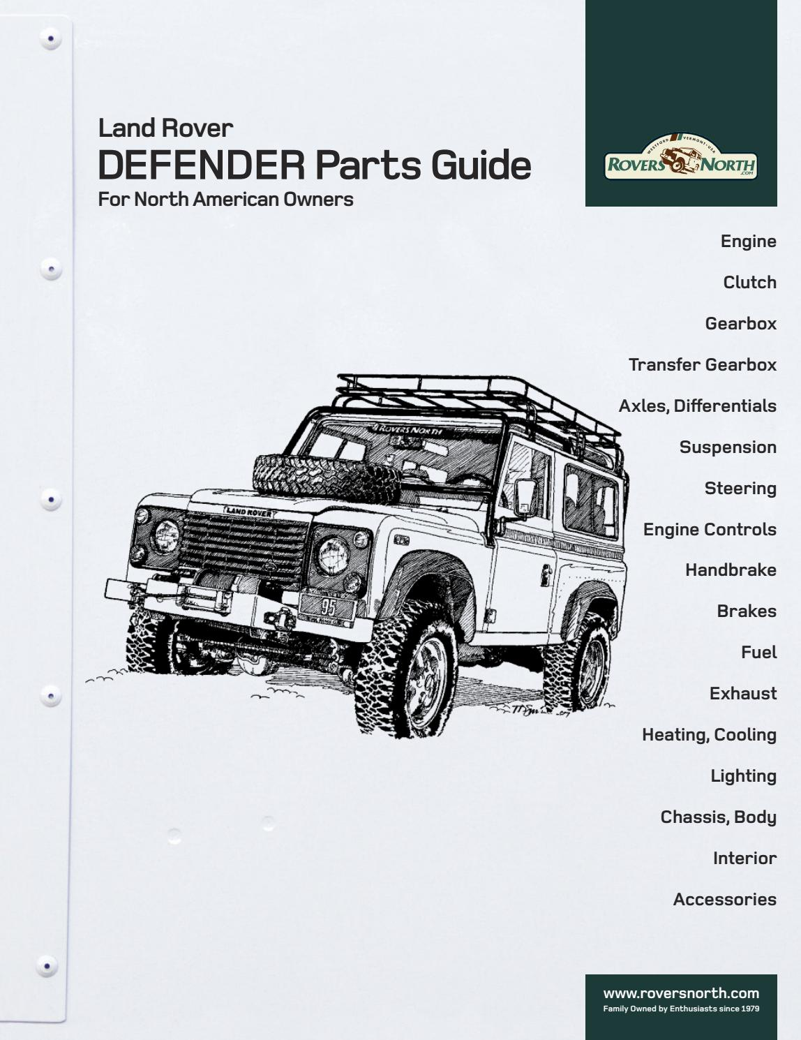 Land Rover DEFENDER Parts Guide For North American Owners by Rovers North -  issuu
