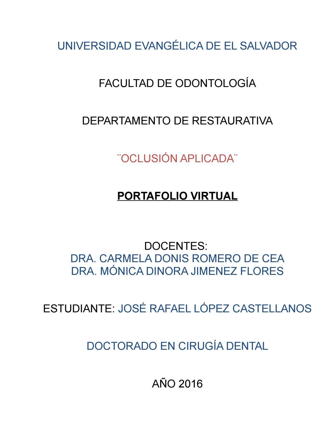Portafolio virtual oclusión aplicada by Rafael López Castellanos - issuu