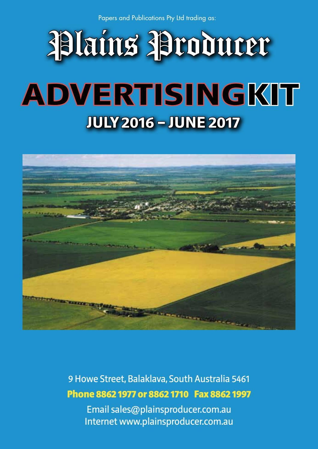 full advertising kit 2016 2017 by plains producer issuu