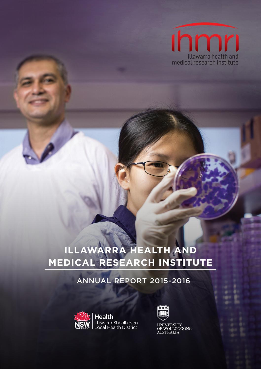 2015-16 Annual Report - Illawarra Health and Medical Research ...