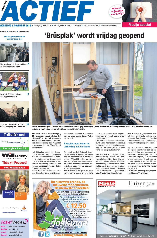 c0604755ee48fe Weekblad Actief - Editie Tytsjerksteradiel Dantumadiel - week 45 2016 by  Weekblad Actief - issuu