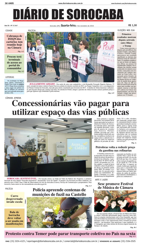 Edição de 09 de novembro de 2016 by DIÁRIO DE SOROCABA - issuu f6831a1f5c488