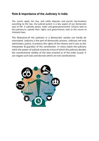 Role & Importance of the Judiciary in India by pahujalawacademy - issuu