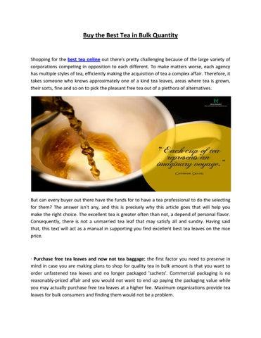 Assam tea online by Halmari-Tea - issuu