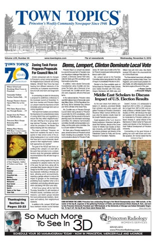 Town Topics Newspaper November 9 2016 By Witherspoon Media Group