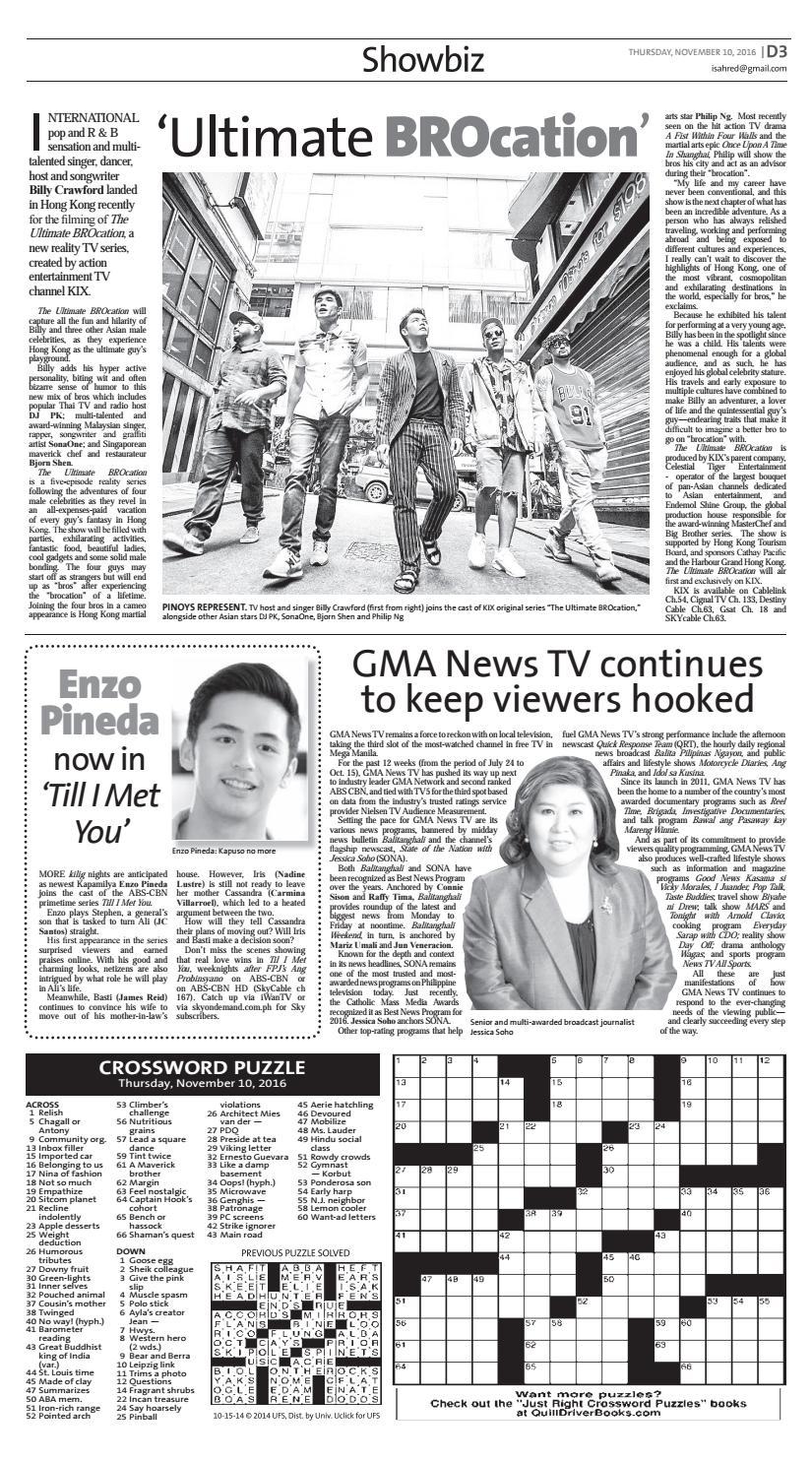 Manila Standard - 2016 November 10 - Thursday by Manila